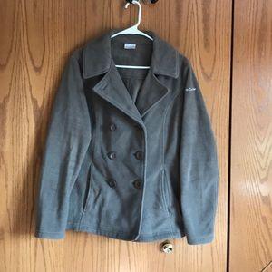 Columbia olive green pea jacket